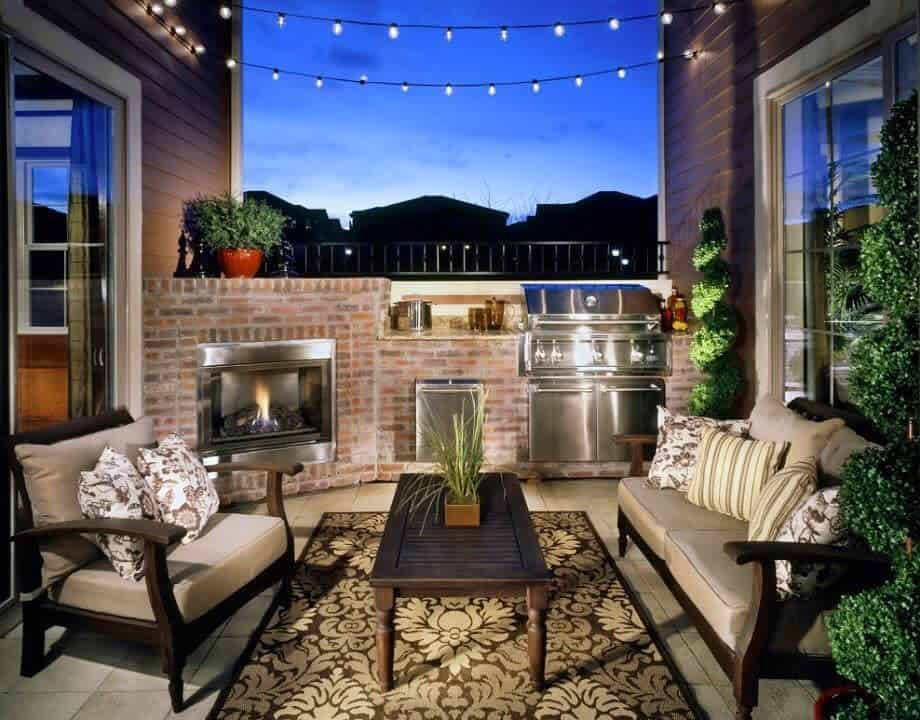 small patio lighting ideas celenerealestate
