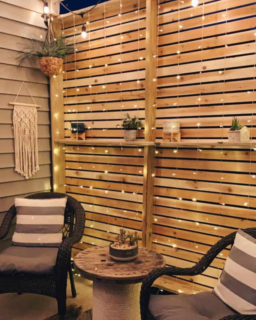 small patio lighting ideas rachelleighsergent