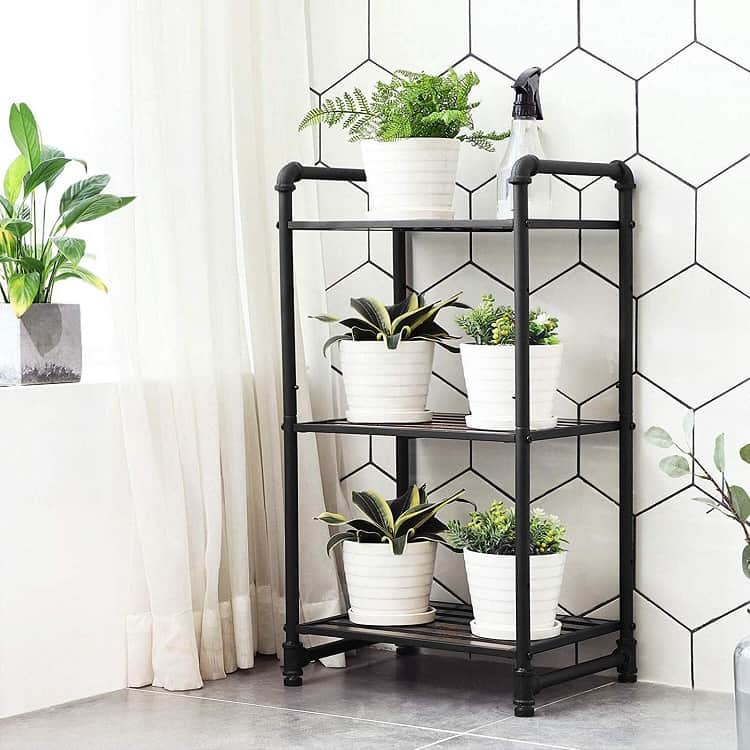 Small Plants Bathroom Shelving Unit Songmics