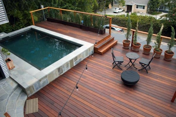Small Pool Cool Backyard Decking Ideas
