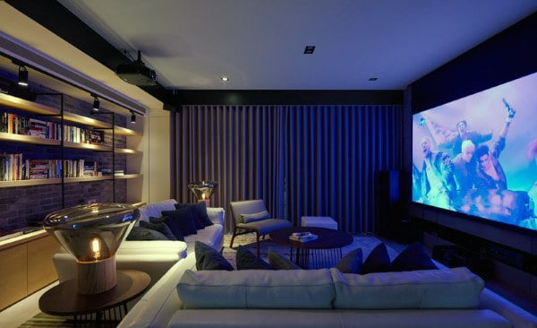 theaters throughout living room home design new | 80 Home Theater Design Ideas For Men - Movie Room Retreats