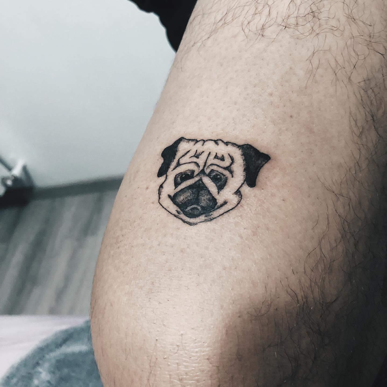 Small Pug Tattoo Il.tattoo
