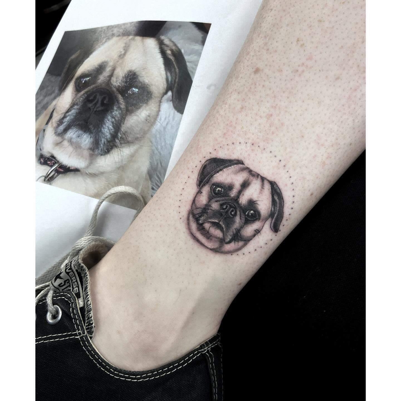 Small Pug Tattoo Tomtattooer