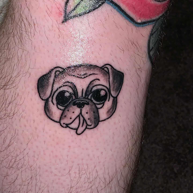 Small Pug Tattoo Trvsgld