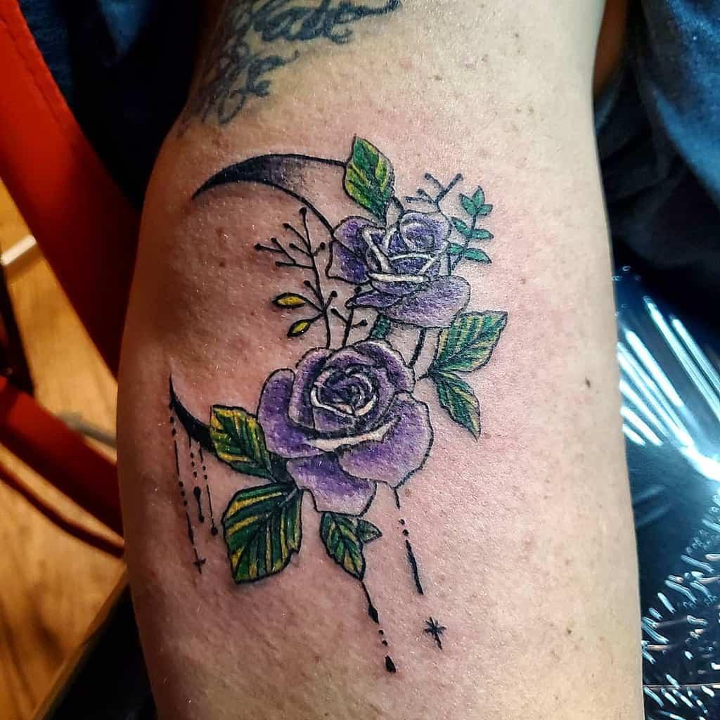 small purple rose tattoos patrickjones_brtp