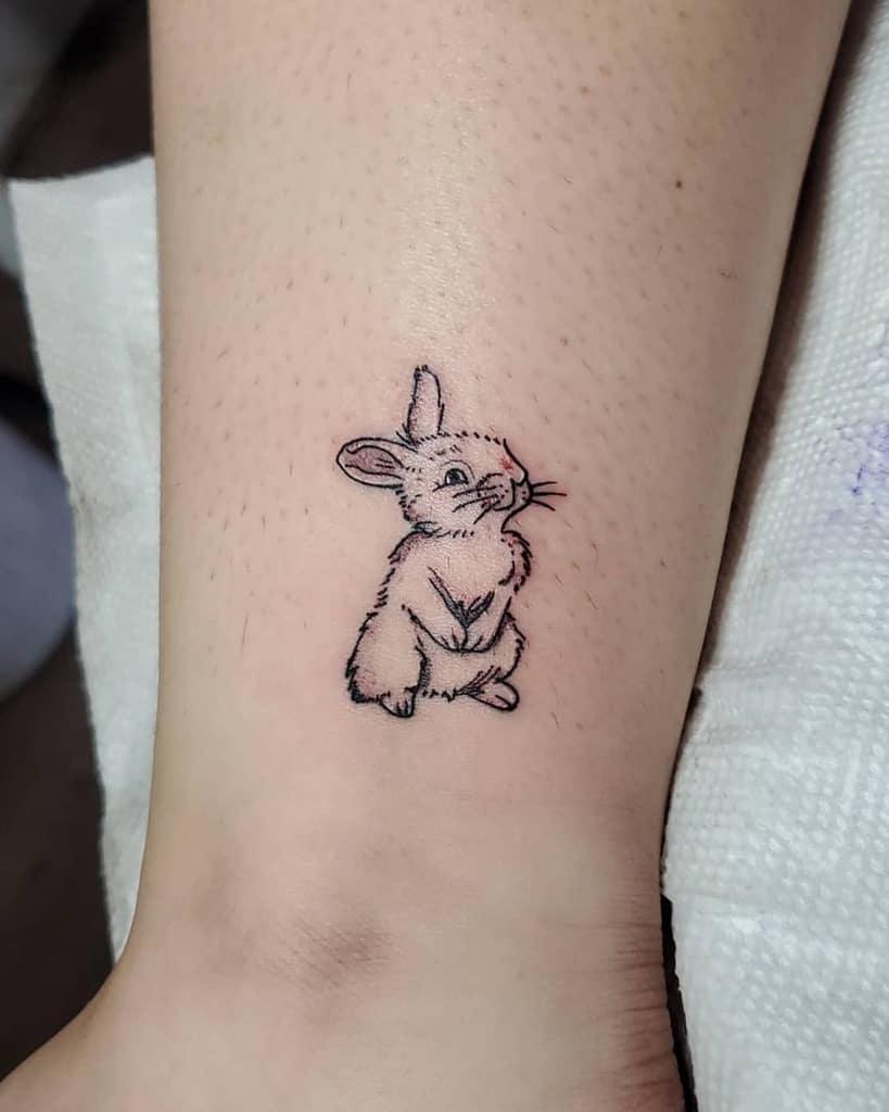 Small Rabbit Tattoos D.attakai