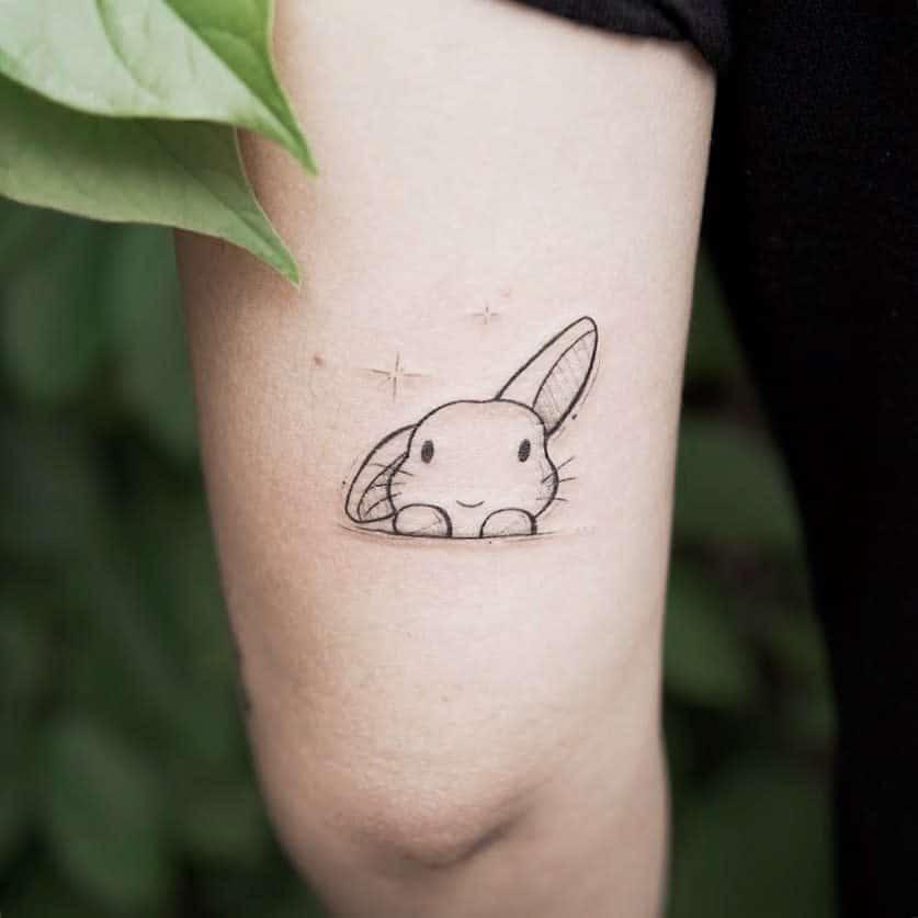 Small Rabbit Tattoos Powxpow Tat2