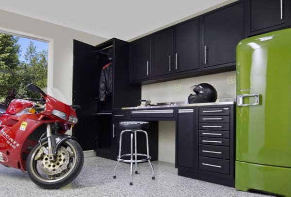 Small Retro Black Cabinet Storage Ideas For Garages