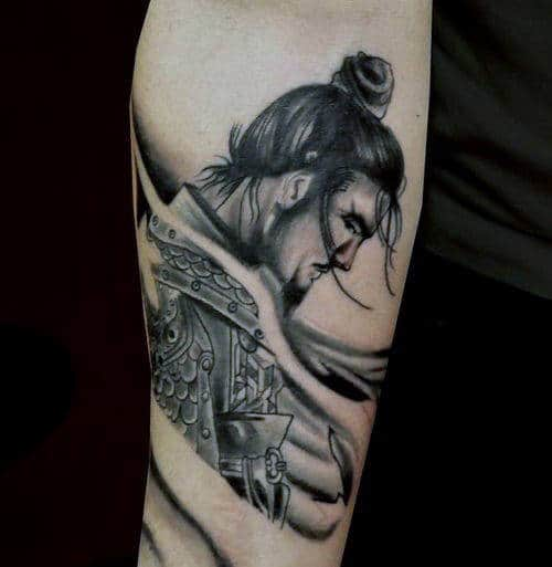 Small Samurai Tattoo Ideas For Guys