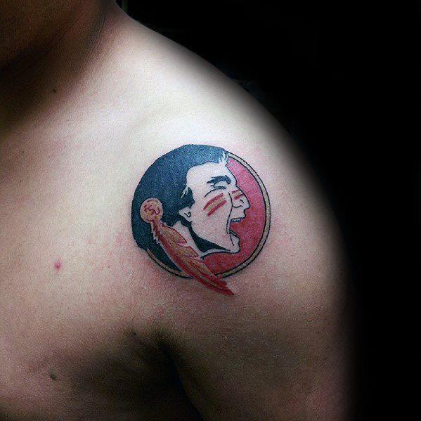 Small Shoulder Fsu Mens Tattoo Ideas
