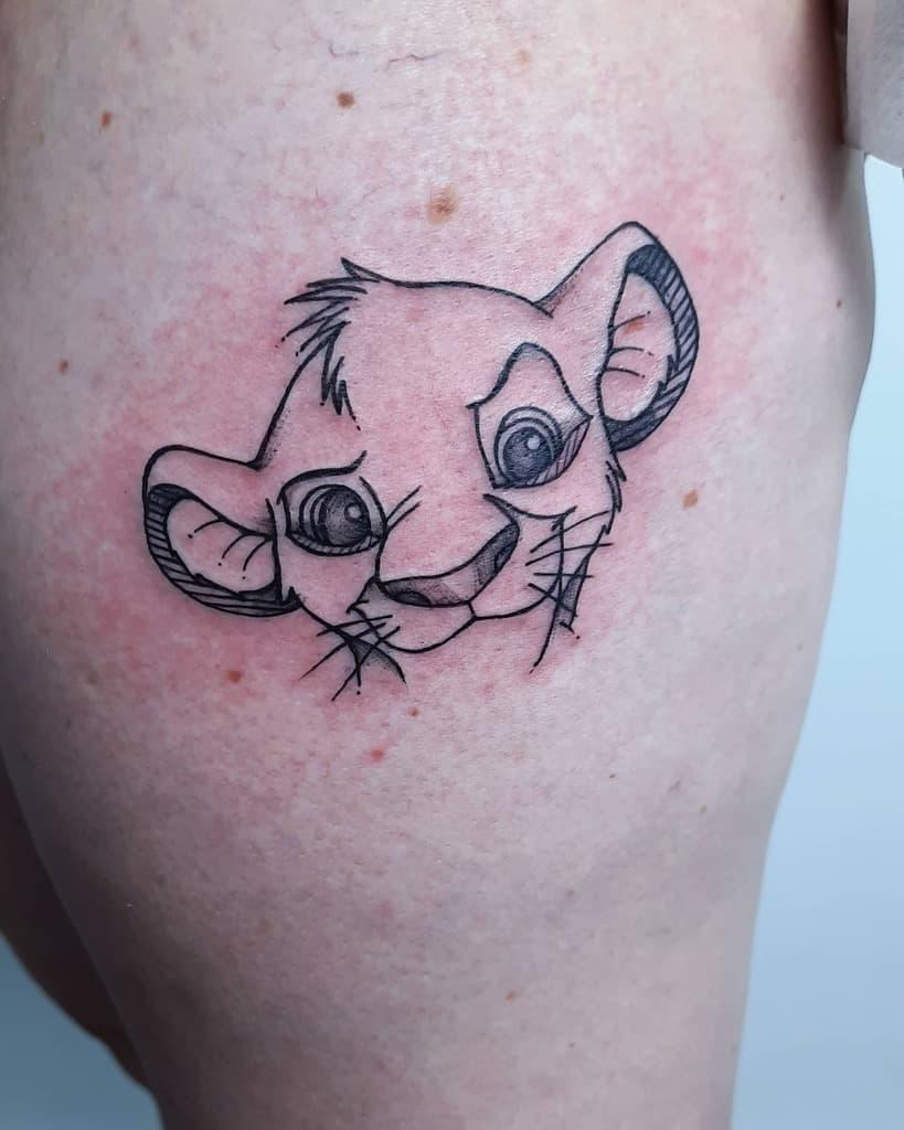 Small Simba Tattoo Alexandra Bam Cherry