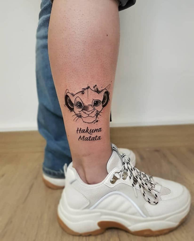 Small Simba Tattoo Bang.and.tattoo