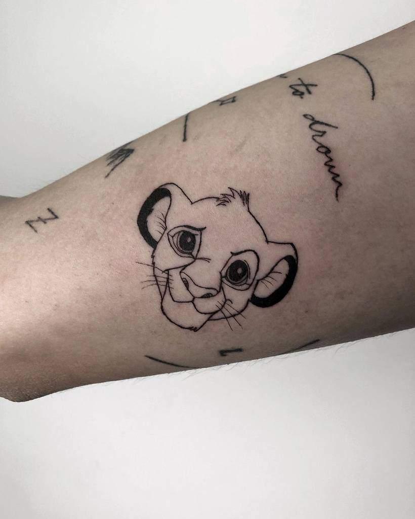 Small Simba Tattoo Calulin97
