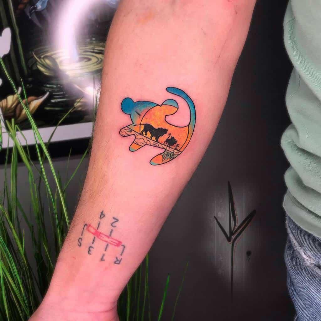 Small Simba Tattoo Joak.tattoo