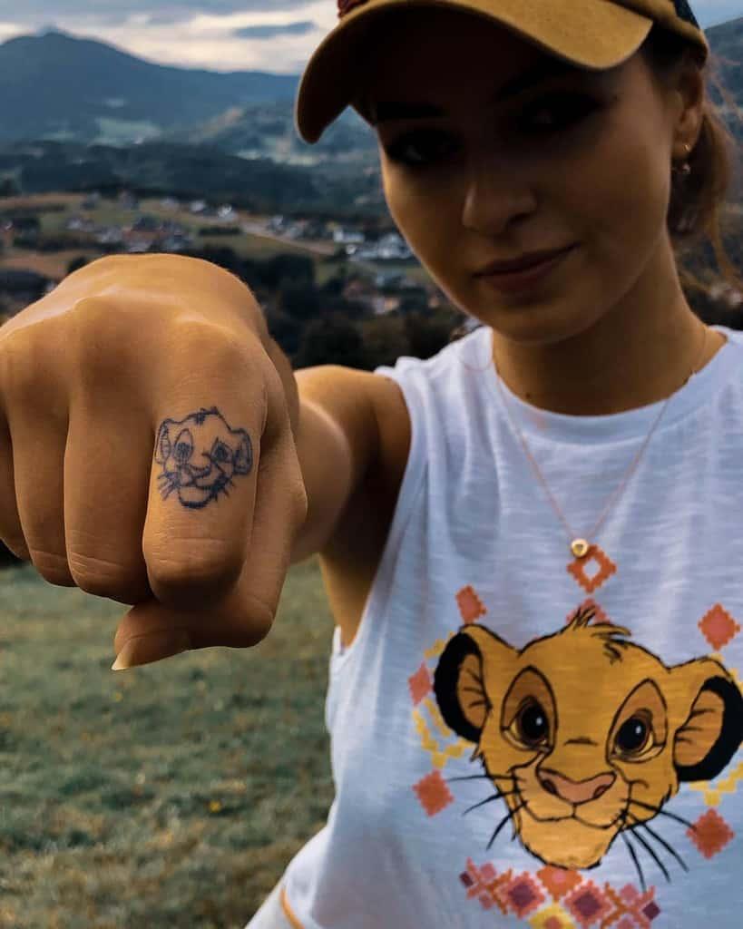 Small Simba Tattoo Karolszaaa