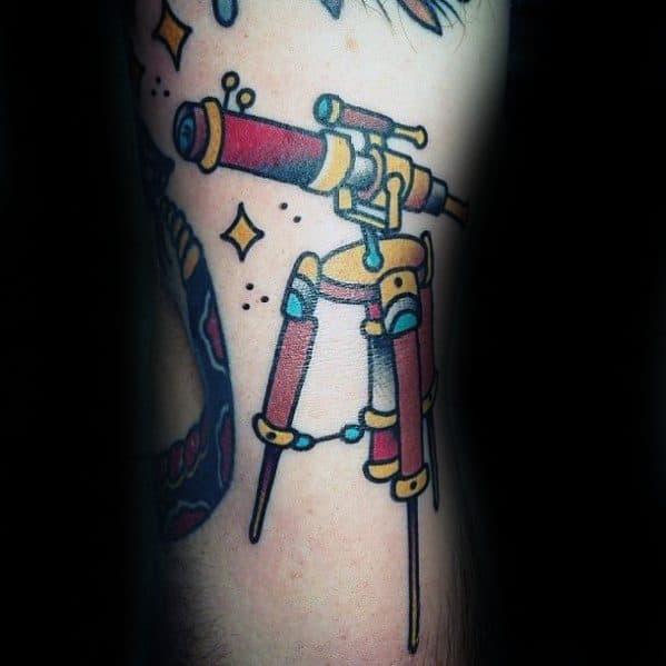 Small Simple Arm Telescope Guys Tattoos