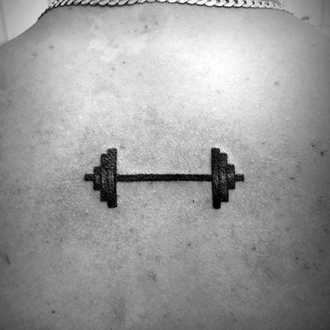 Small Simple Back Crossfit Male Tattoos