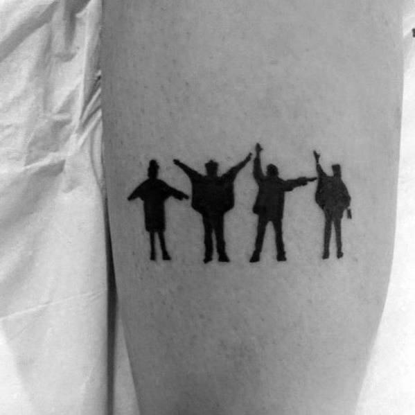Small Simple Beatles Guys Tattoo Ideas