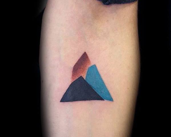 Small Simple Guys Tattoo Ideas Rock Climbing Designs