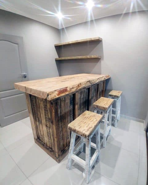 Small Simple Home Rustic Bar Ideas