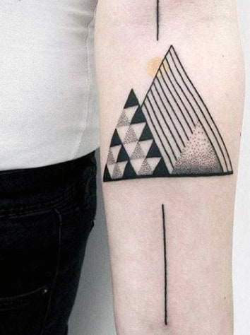 Triangle Small Simple Men Tattoo