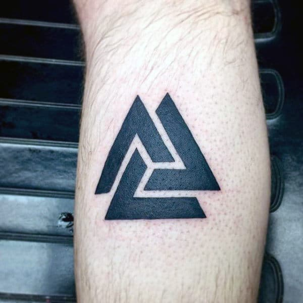 Symbolic Tattoos For Men Designs Ideas And Meaning: 50 Valknut Tattoo Designs For Men
