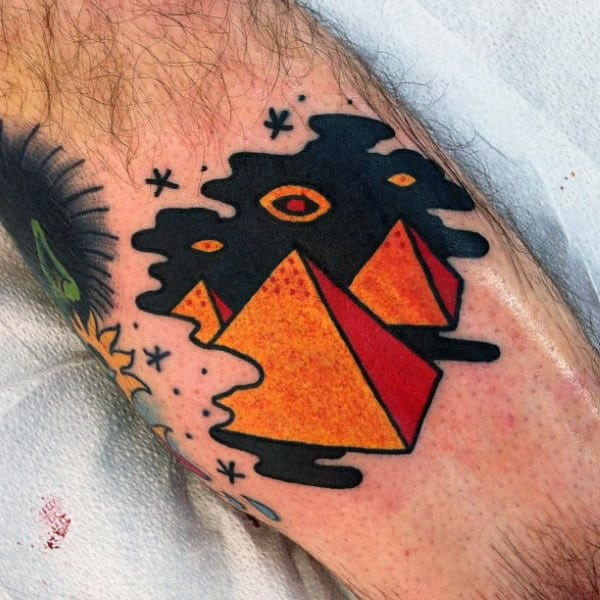 Small Simple Mens Creative Pyramid Tattoos