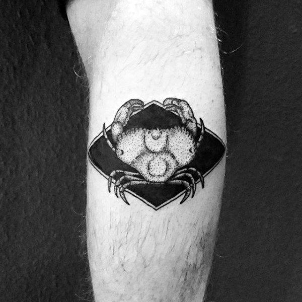 Small Simple Mens Detailed Crab Leg Tattoo Ideas