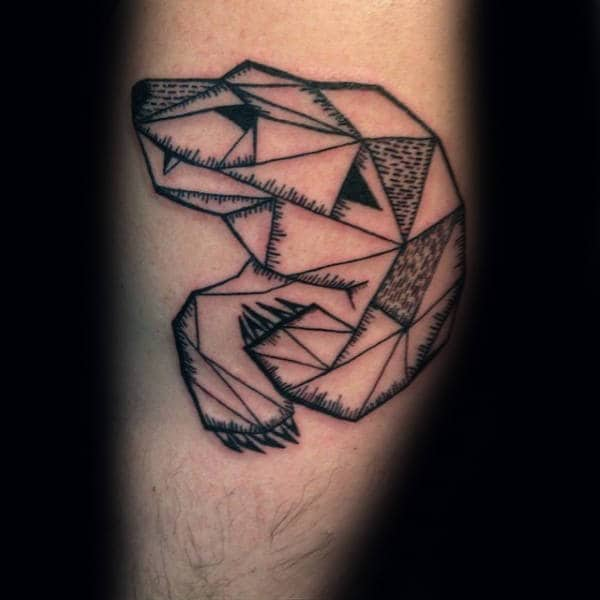 Small Simple Mens Polar Bear Geometric Tattoos