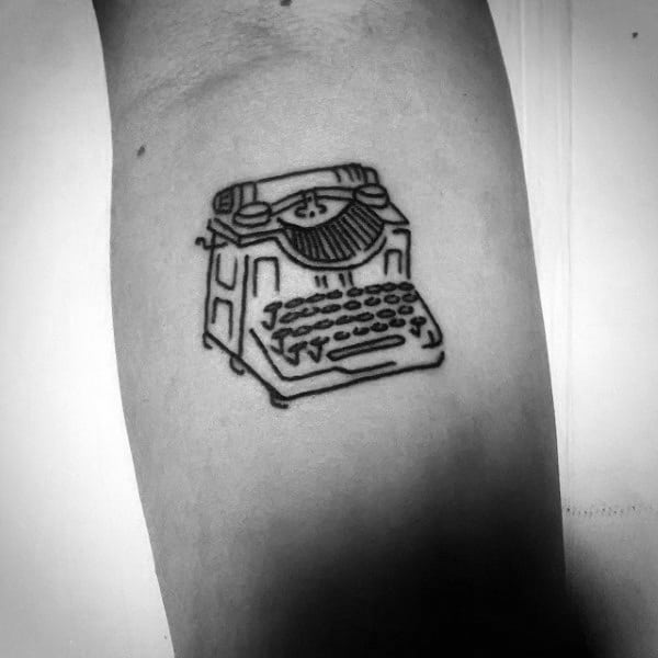 Small Simple Mens Typewriter Tattoo Designs