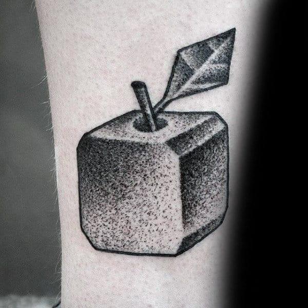 Square Tattoo: 75 Apple Tattoo Designs For Men
