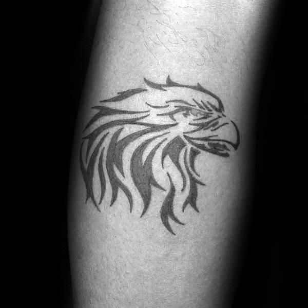 Small Simple Tribal Eagle Tattoos For Guys