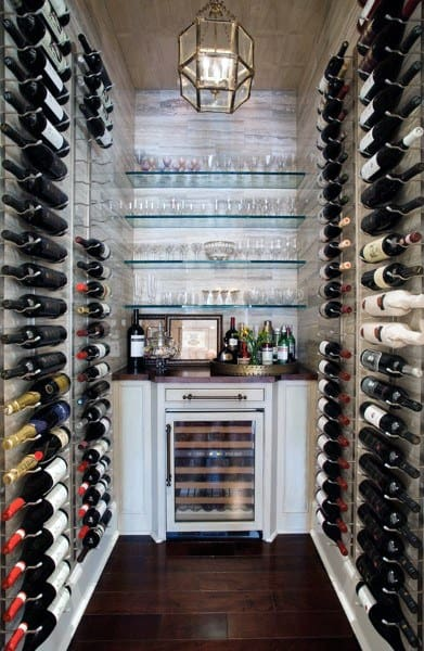 Small Simple Wine Cellar Ideas & Top 80 Best Wine Cellar Ideas - Vino Room Designs