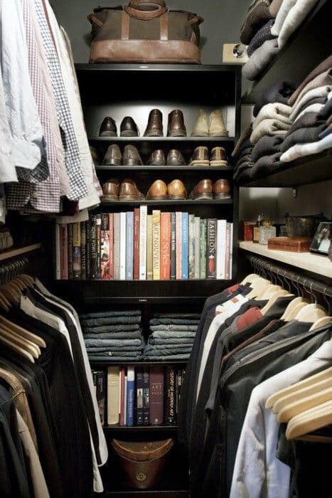 Small Skillfully Organized Male Closet Space