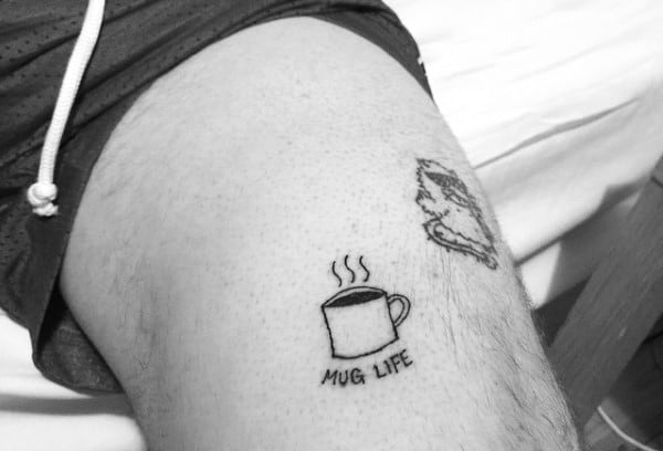Coffee Small Tattoo Designs Men