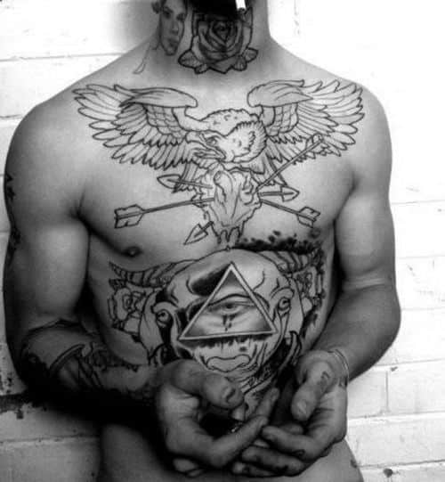 Eagle Small Tattoos For Men Chest