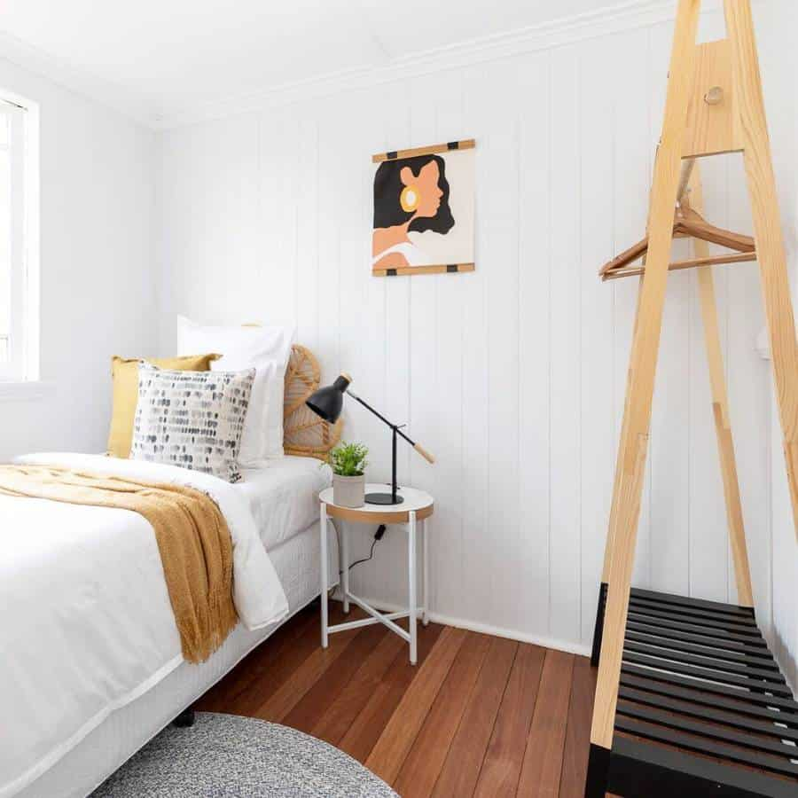 white boho apartment bedroom ideas