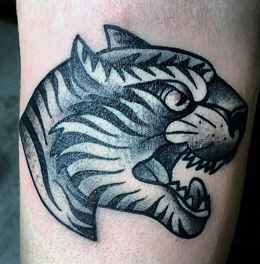 Small Tiger Men's Tattoos