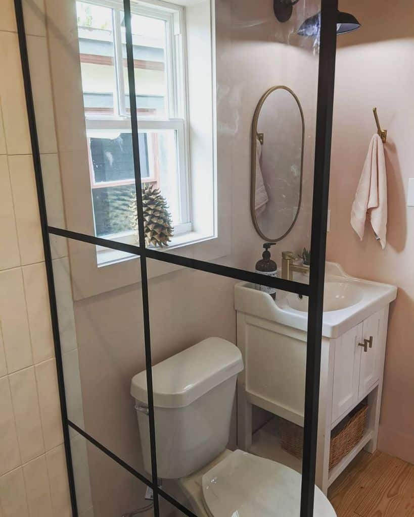 Small Vanity Tiny Bathroom Ideas Plum Construction