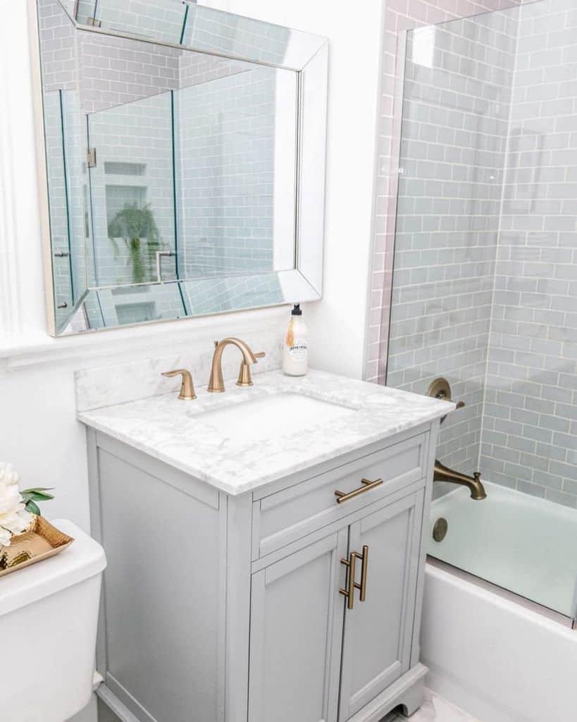 Small Vanity Tiny Bathroom Ideas Stagingspacesdesign