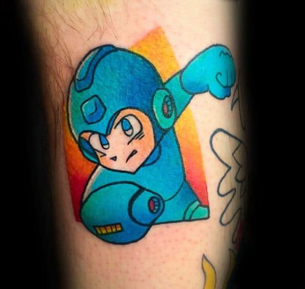 50 megaman tattoo designs for men video game ink ideas