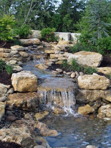 Top 70 Best Backyard Waterfalls - Water Feature Design Ideas on Small Backyard Waterfall Ideas id=87630