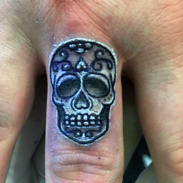 0f4283f74 100 Sugar Skull Tattoo Designs For Men - Cool Calavera Ink Ideas
