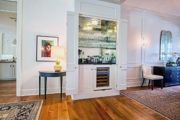 Small White Cabinets Traditional Wet Bar Designs