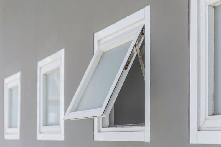 Small White Stucco Exterior Window Trim