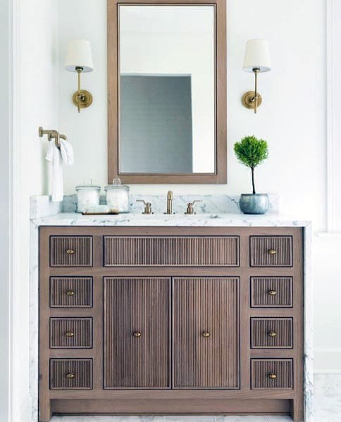 Small Wood Bathroom Vanity Ideas