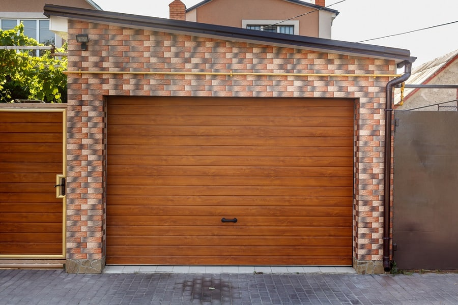 Stunning Hardwood Garage Door Design Ideas