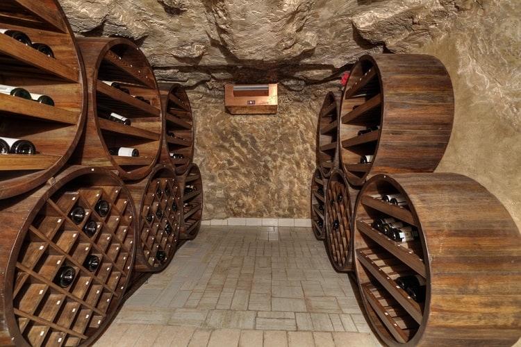 Small Wooden Wine Cellar Basement Storage