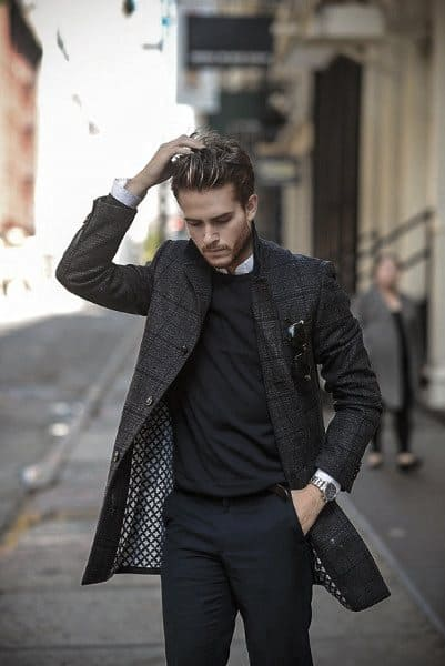 Smart Mens Casual Wear Style Ideas Dark Black Color
