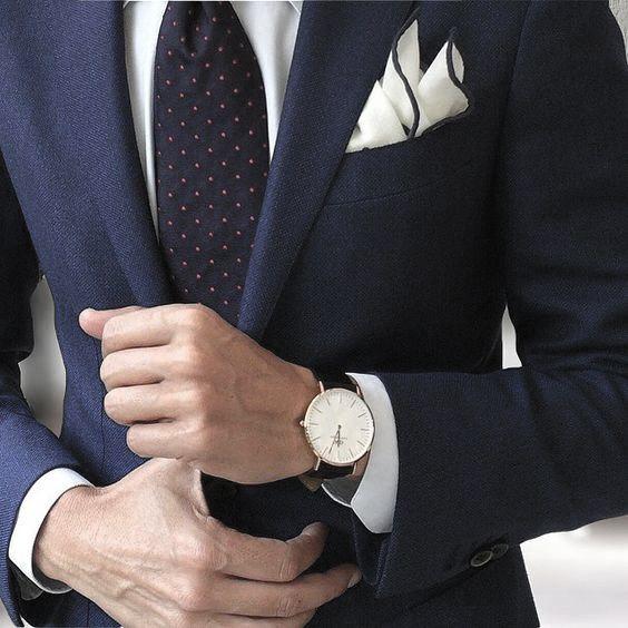 Smart Mens Navy Blue Suit Style Ideas